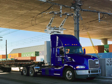 Prototype Mack heavy-duty plug-in hybrid truck part of e-Highway demo near Ports of Long Beach and Los Angeles