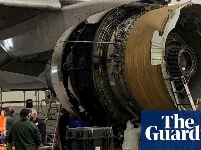 Denver plane engine fire consistent with metal fatigue in fan blade, say investigators