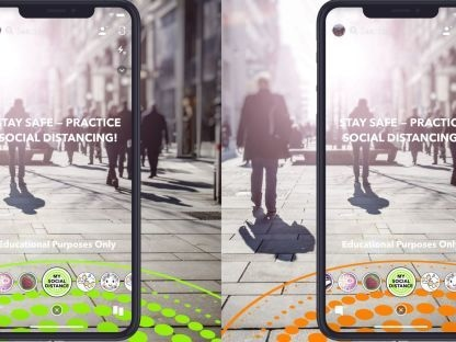 AR Social Distancing Lenses - Snapchat Created New COVID-19 Lenses in Collaboration with the WHO (TrendHunter.com)
