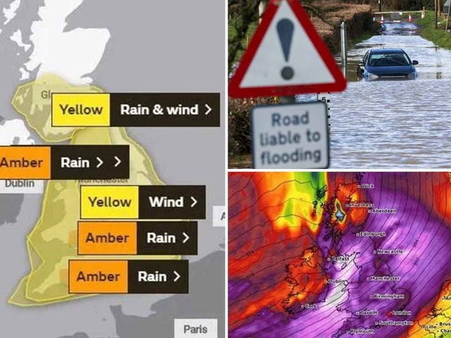 UK weather forecast – Storm Dennis to batter Britain with 70mph gales and 'danger to life' floods