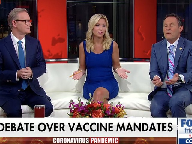 Fox & Friends hosts feud over New York's indoor vaccine mandate as Brian Kilmeade compares it to Taliban rule