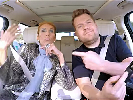 Celine Dion & James Corden Recreate Iconic 'Titanic' Scene On 'Carpool Karaoke' — Watch
