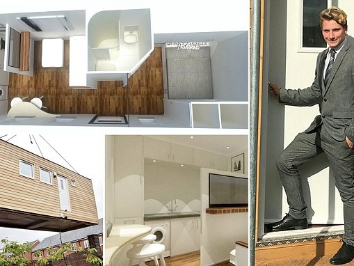 Homeless teenager is first to move into £40k 'micro home'