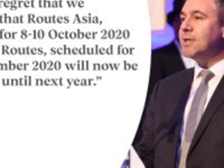 PRESS RELEASE: Routes Asia and World Routes postponed until 2021