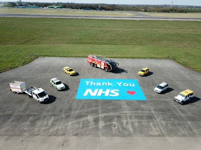 London Stansted pays tribute to NHS heroes