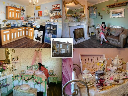 Businesswoman spends £70,000 transforming her three-bed terrace into a vintage wonderland
