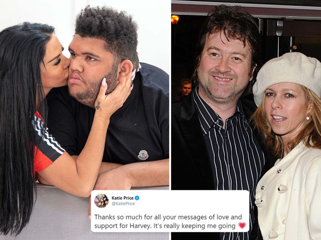 Kate Garraway lends support to Katie Price as she 'likes' tweet about son Harvey's health battle in intensive care