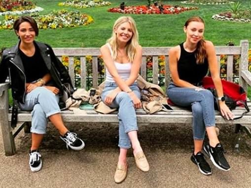 The Saturdays' Frankie Bridge, Mollie King and Una Healy reunite for a socially distanced catch up
