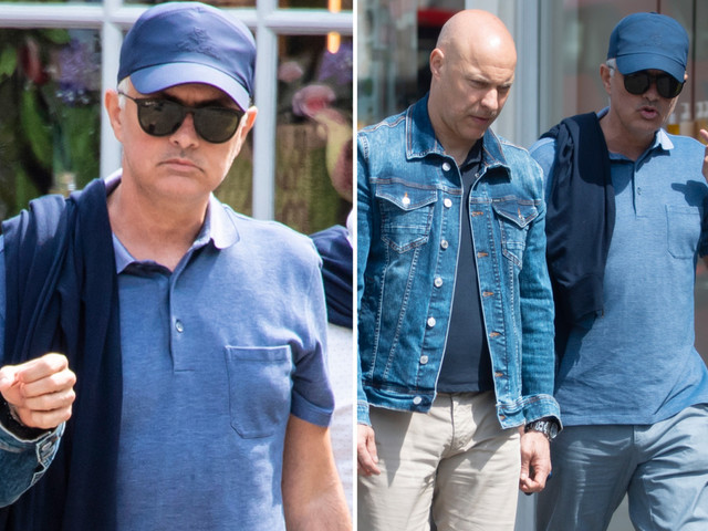 Jose Mourinho heads out shopping with pals in Chelsea as job offers start to come in for axed Man Utd boss