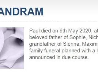 A QVD death: Paul Brandram (1947-2020)
