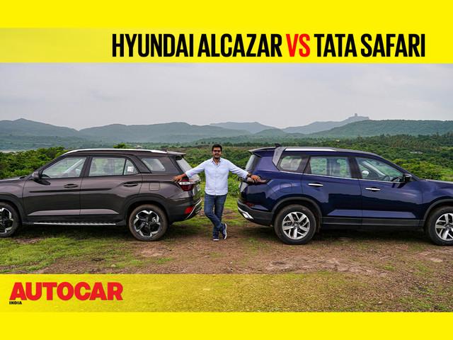 Review: Hyundai Alcazar vs Tata Safari comparison video