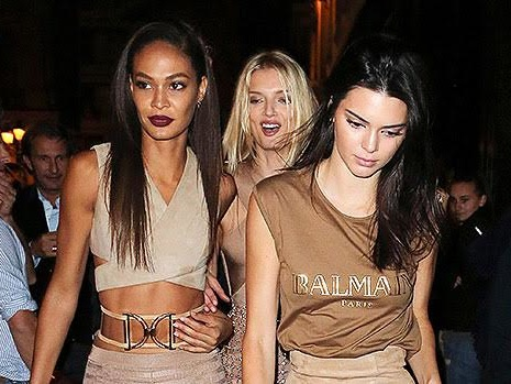 Kendall Jenner Straddles Joan Smalls In Miami & Bella Hadid Tells Her To 'Row That Boat'