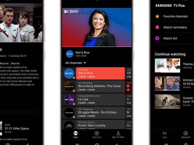 Samsung's free TV app comes to Galaxy phones