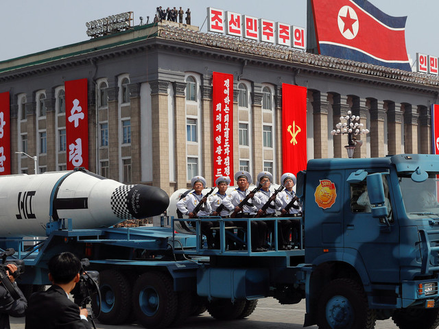 North Korea Displays What Appear To Be New Missiles During Giant Military Parade