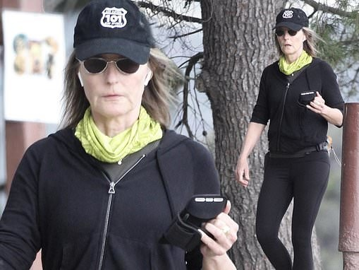 Helen Hunt cuts a casual figure as she keeps in shape with a morning hike