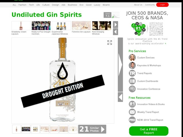 Undiluted Gin Spirits - Drought Edition Gin by Pienaar and Son is Bottled at 80% ABV (TrendHunter.com)
