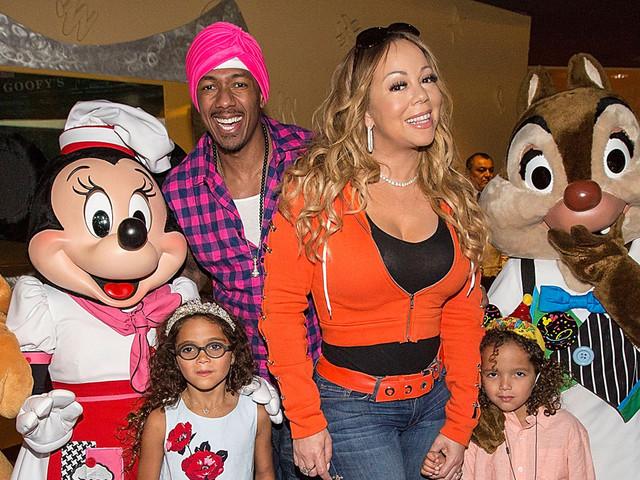 Mariah Carey & Nick Cannon Reunite at Disney for Moroccan & Monroe's Birthday Party!