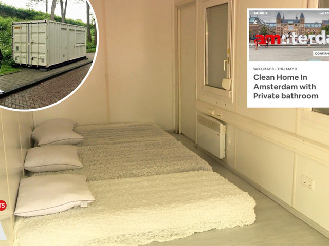 Tourist books £100 a night 'clean home with private bathroom' on Airbnb – but it turns out to be a shipping container on the side of the road