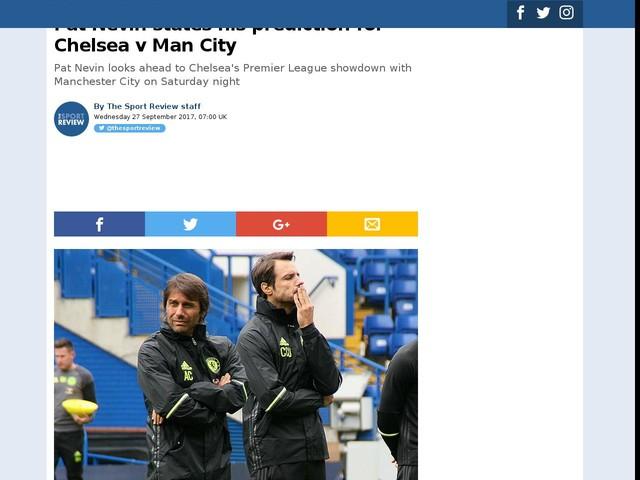 Pat Nevin states his prediction for Chelsea v Man City