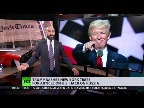 Trump Calls Newspaper Report Of U.S. Intrusion Into Russian Power Grid 'Treason'