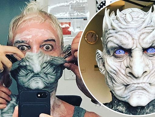 Phillip Schofield transforms into Game Of Thrones villain the Night King in throwback snaps