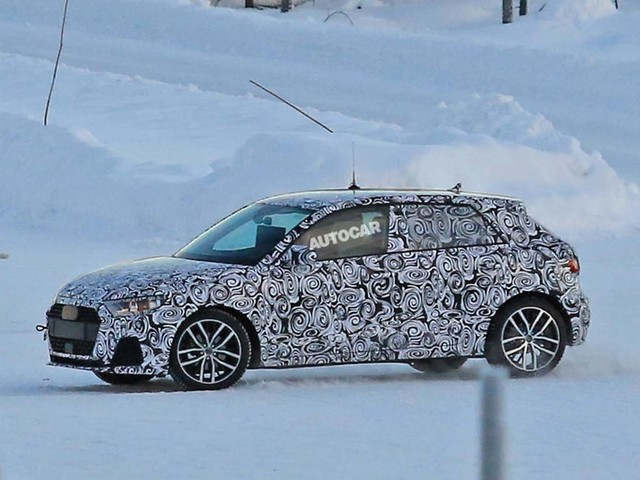 New Audi A1 captured on video before 2018 launch