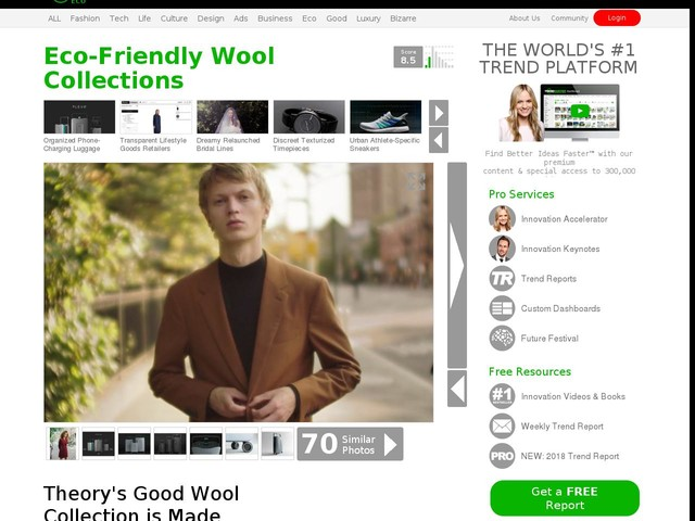 Eco-Friendly Wool Collections - Theory's Good Wool Collection is Made From Eco-Friendly Methods (TrendHunter.com)
