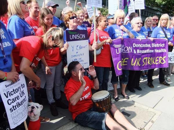 Barnet careworkers fight pay cut with strike action this week on 24 & 25 February