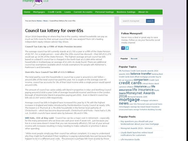 Council tax lottery for over-65s