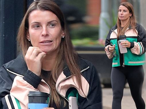 Coleen Rooney heads on her daily coffee run in Cheshire