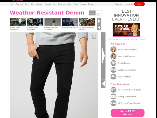 Weather-Resistant Denim - DUER's 'Stay Dry 2.0 Denim' Repels Oil, Water and Dirt with Paraffin Wax (TrendHunter.com)