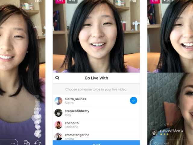 Instagram just launched live video chat — and everyone else can watch