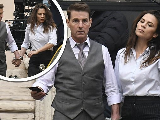 Mission Impossible 7: Tom Cruise and Hayley Atwell handcuffed on set