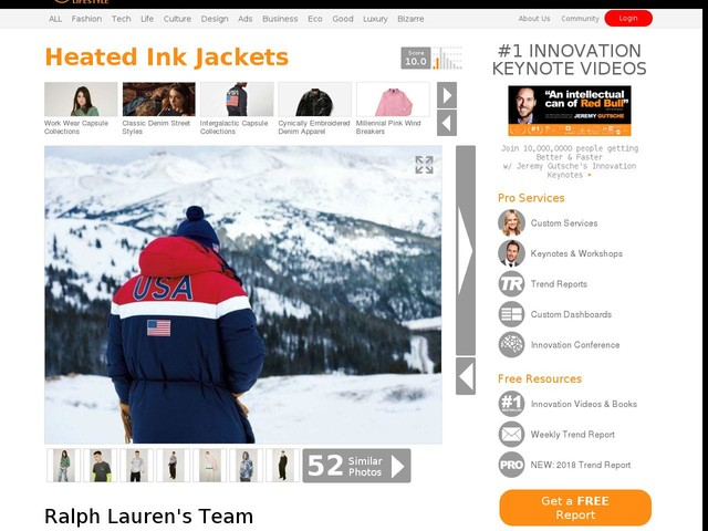 Heated Ink Jackets - Ralph Lauren's Team USA Olympic Jacket Uses Heat-Conducting Ink (TrendHunter.com)