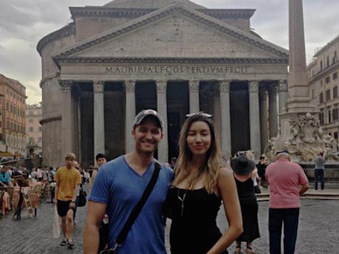 Matthew Morrison & Wife: Roman Babymoon