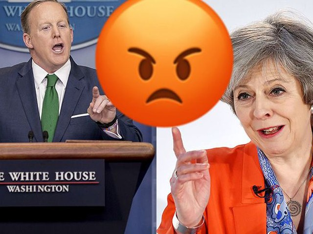 The feud between Britain and Sean Spicer is getting ridiculous