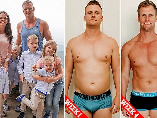 Parents-of-six, 39, transform their bodies and lost 19kg in FOUR weeks