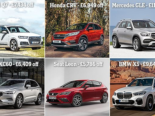 The 20 popular 68-plate new cars with the biggest discounts in September