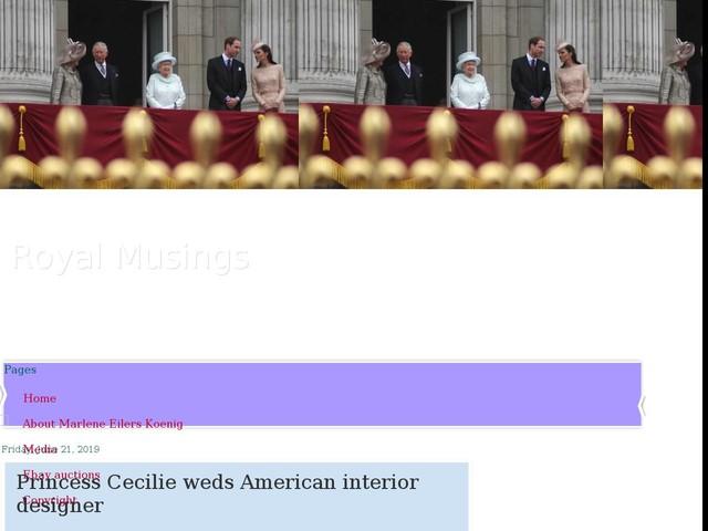 Princess Cecilie weds American interior designer