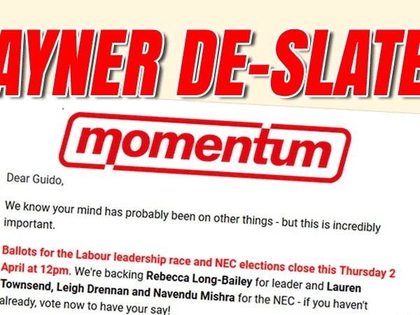 Momentum Implicitly Withdraws Support for Rayner