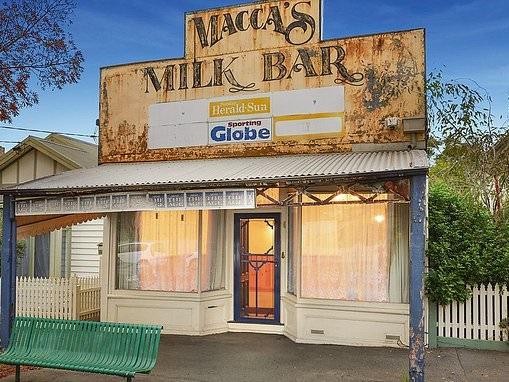 Historic shopfront facade of a converted milk bar hides three bedrooms and spa bath