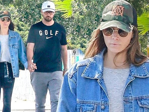 Justin Timberlake and Jessica Biel hold hands after their lunch date in Los Angeles
