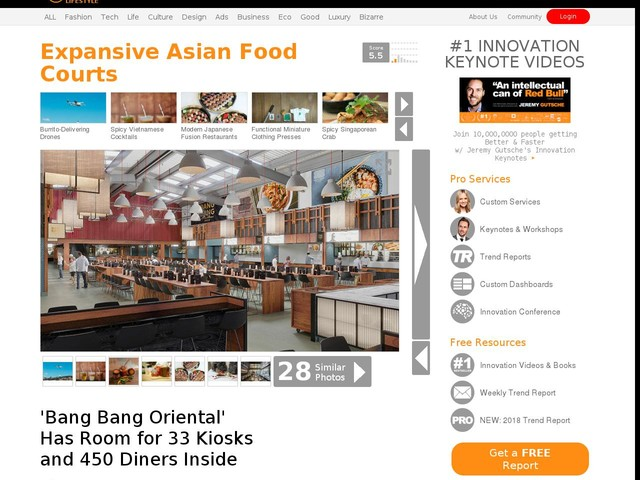 Expansive Asian Food Courts - 'Bang Bang Oriental' Has Room for 33 Kiosks and 450 Diners Inside (TrendHunter.com)