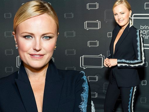 Malin Akerman makes a splash in lace-trim pantsuit as she leads stars at Bring Change To Mind gala