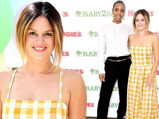 Rachel Bilson is a ray of sunshine as she joins Kelly Rowland at Baby2Baby event