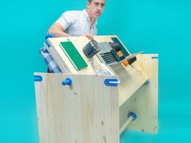 Nap-Friendly Workstations - The 'PowerNap Desk' from Unnecessary Inventions Allows for Quick Rests (TrendHunter.com)