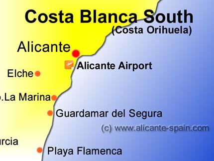 Alicante Airport to Guardamar del Segura, Urb. La Marina and Playa Flamenca Transfer Options