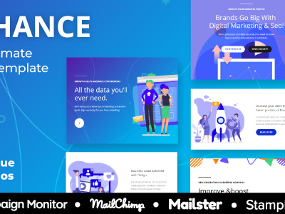 Seo Enhance Multipurpose Responsive Agency Email Template For Seo