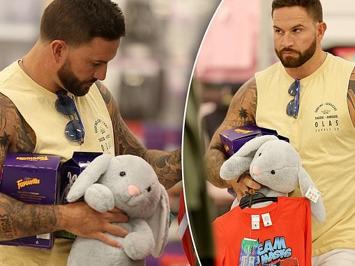 MAFS' Daniel Webb looks downcast while he shops for Easter gifts for his son