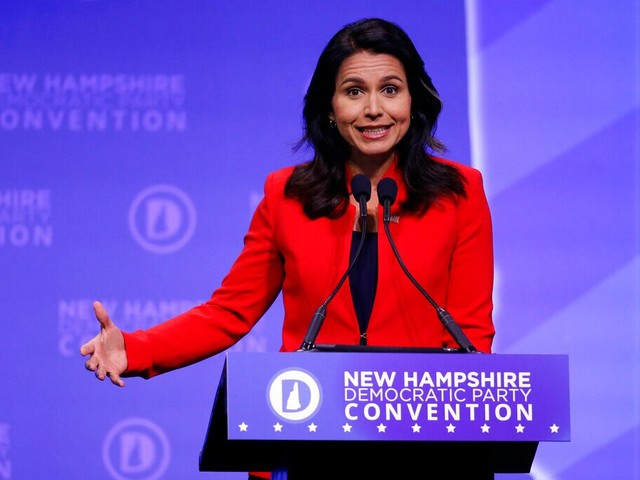 Tulsi Gabbard accuses Trump of being 'Saudi Arabia's b----' over response to attacks on oil fields